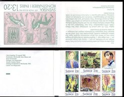 SWEDEN 1988 Swedish Artists In Paris Booklet MNH / **.  Michel MH132 - Booklets