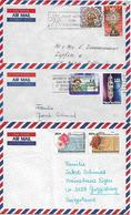 PAPUA NEW GUINEA Three AIRMAIL COVER Sent To Suisse 2 Stamps Each  COVER USED - Papouasie-Nouvelle-Guinée