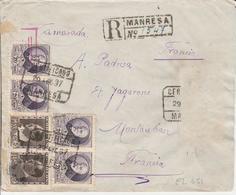 1937 LR De MANRESA à MONTAUBAN  Censure De Barcelone    EL651 - 1931-50 Brieven