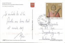 Vatican Vaticano Vatikan 2018 Painter Jacopo Del Casentino Euro 3 Ganzsache Postal Stationary Postcard Correct Rate - Vaticaanstad