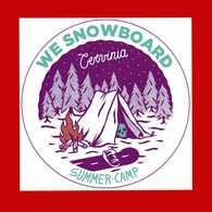 AUTOADESIVI -  WE SNOWBOARD. CERVINIA - SUMMER-CAMP   .    Vedi Descrizione. - Adesivi
