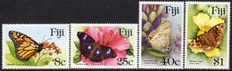 Fiji 1985 Butterflies Set Of 4, MNH, SG 693/6 (BP2) - Fiji (1970-...)