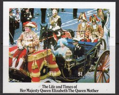 Fiji 1985 Life & Times Of The Queen Mother MS, MNH, SG 705 (BP2) - Fiji (1970-...)