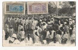 Mali Bamako Indigènes Attendant L'arrivée Du Train Carte Postale Ancienne - Mali