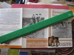 Dépliant 3 Volets - DEERING - ARRACHEUSE DE POMMES DE TERRE - Agriculture