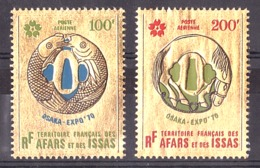 Afars Et Issas - 1970 - PA N° 64 Et 65 - Neufs ** - Expo Osaka - Timbres Or - Afars Et Issas (1967-1977)