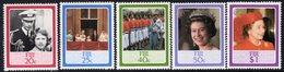 Fiji 1986 Queen's 60th Birthday Set Of 5, MNH, SG 714/8 (BP2) - Fiji (1970-...)