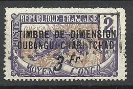 OUBANGUI - CHARI - TCHAD FRANCE Colony Taxe Tax Revenue Timbre De Dimension 3 Fr. O - Tchad (1922-1936)