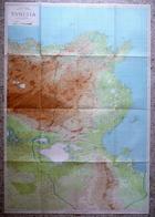 Tunisia Grande Carta A Colori Scala 1:500000 CTI 1941 Geografia Africa - Altri