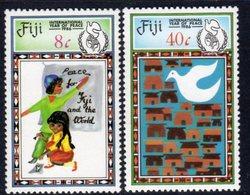 Fiji 1986 International Peace Year Set Of 2, MNH, SG 736/7 (BP2) - Fiji (1970-...)