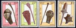 Fiji 1986 Ancient War Clubs Set Of 4, MNH, SG 747/50 (BP2) - Fiji (1970-...)
