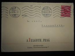 Boheme-moravie , Lettre De Praha 1943 Pour Donauworth - Bohême & Moravie