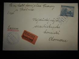 Boheme-moravie , Lettre Expres Vnorov 1940 Pour Olomouc - Bohême & Moravie