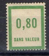 FRANCE (  FICTIF  ) : Y&T  N°  F48  TIMBRE  NEUF  SANS  TRACE  DE  CHARNIERE . - Phantomausgaben
