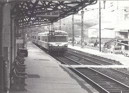 PHOTO G.F. 17.5/12.5CMS.GARE DE LYON GORGE DE LOUP EN 1973.MICHELINE EN GARE.B.PLAN.T.B.ETAT.A SAISIR - Treni