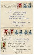 Morocco 1970 3 Covers Casablanca To U.S., King Hassan II Stamps - Morocco (1956-...)