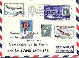 FRANCE - LETTRE CENTENAIRE DE LA POSTE PAR BALLONS MONTES 28.1.1971 BETZ OISE /1 - Poststempel (Briefe)