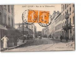 CPA 69 Lyon Rue De La Thibaudiere - Tramway - Lyon