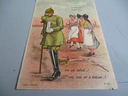 CARTE POSTALE    AU REVOIR DE LA LORRAINE ET DE L'ALSACIENNE AU BOCHE    GUERRE 14/18 - 1914-18