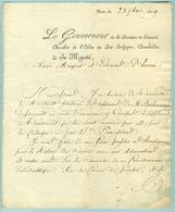 Lettre 1819 Gouverneur Province Hainaut Au Mayeur D'Havré - Manuscripts