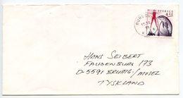 Sweden 1991 Cover Burgsvik To Bruttig-Mosel Germany, Scott 1888 Dolphin Show - Sweden