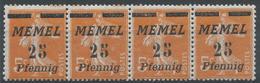 Lot N°49724  MEMEL, Bande De Quatre N°51**, NEUF Sans Charniére - Memel (1920-1924)