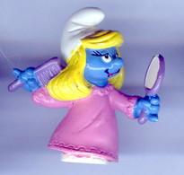 Figurine Vintage SCHTROUMPFETTE MIRROIR © 1983 PEYO SCHLEICH - Schtroumpfs