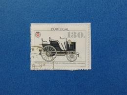 1995 PORTOGALLO PORTUGAL AUTOMOVEL 130 FRANCOBOLLO USATO STAMP USED - Usati