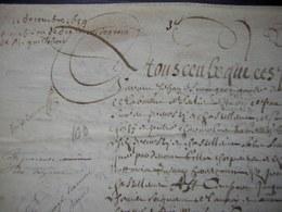 1659 Parchemin De Crépy (Oise) Acquisition De Dix Mines De Grains à Monsieur Guillebert (Ferme De Mermont) - Manuscripts