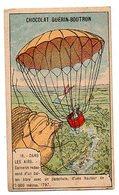 Chromo Chocolat GUERIN - BOUTRON : Dans Les Airs N° 18 - Garnerin Redescend D'un Ballon Libre Avec Un Parachute... 1797. - Guérin-Boutron