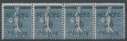 Lot N°49726  MEMEL, Bande De Quatre N°54**, NEUF Sans Charniére - Memel (1920-1924)