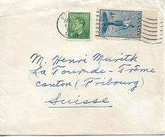 CANADA 1951 COVER Sent To Suisse 2 Stamps COVER USED - Storia Postale