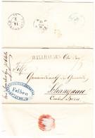 1853 Faltbrief Aus Felben Mit Stabstempel Wellhausen An Gemeinderat In Schangnau - Svizzera