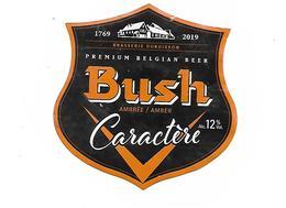 ETIQUETTE BIERE BUSH CARACTERE / BR. DUBUISSON - PIPAIX - Beer