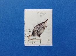 1997 PORTOGALLO PORTUGAL WWF TOUPEIRA D'AGUA 49 FRANCOBOLLO USATO STAMP USED - 1910 - ... Repubblica