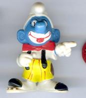 Figurine Vintage SCHTROUMPF CLOWN © 1978 PEYO SCHLEICH GERMANY CE - Smurfen