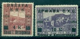 YOUGOSLAVIE N° 49 / 50 N X TB Cote : 11.00 € - 1919-1929 Königreich Der Serben, Kroaten & Slowenen