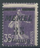 Lot N°49728  MEMEL, Variété/n°65**, NEUF Sans Charniére, Signatures En Haut Du Timbre - Memel (1920-1924)