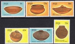 Fiji 1988 Ancient Pottery Set Of 6, MNH, SG 772/7 (BP2) - Fiji (1970-...)