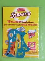 Magnet - Savane Brossard - Carte De L'Amérique Du Nord - Houston - Neuf Sous Blister - Advertising