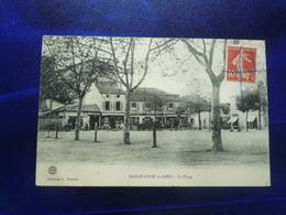 1907 BARCELONE DU GERS LA PLACE BON ETAT - Autres Communes