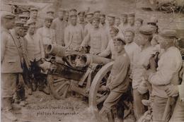 GUERRE 14-18 - CARTE PHOTO ALLEMANDE - ARTILLERIE BAVAROISE - CANON DÉTRUIT - Oorlog 1914-18