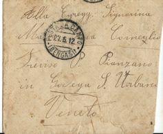 FRANCHIGIA MILITARE POSTA DA CAMPO BENGASI 1912 X PIANZANO GUERRA ITALO-TURCA - 1900-44 Victor Emmanuel III.