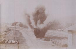 GUERRE 14-18 - CARTE PHOTO ALLEMANDE - SAALES (BAS-RHIN) - EXPLOSION DANS LA GARE - Oorlog 1914-18