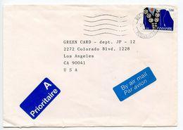 Denmark 1994 Airmail Cover Østjyllands To Los Angeles CA, Scott 994 Jewelry - Denmark