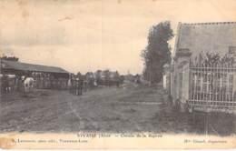 02 - VIVAISE : Chemin De La Raperie ( Chevaux ) - CPA Village (750 Habitants)  - Aisne - France