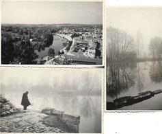 16 ANGOULEME - PHOTO ORIGINALE 1944-46 - PORT L'HOUMEAU 3 PHOTOS - Other Municipalities