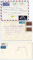 Bulgaria 1990-91 3 Airmail Covers Sofia & Assenovgrad To Ypsilanti & Detroit Michigan - Bulgaria