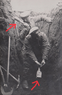 GUERRE 14-18 - CARTE PHOTO ALLEMANDE - VOSGES - VOGESEN - BAN DE SAPT - LANCEURS DE GRENADES - TOP - Oorlog 1914-18