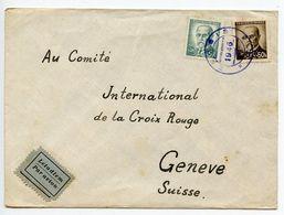 Czechoslovakia 1946 Cover Zejbiš To Geneva Switzerland, International Red Cross - Czechoslovakia